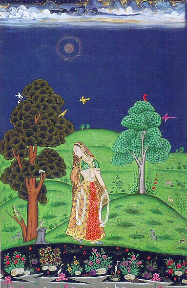 Indian Lady in Garden