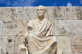Statue of Menander in Acropolis, Athens, Greece